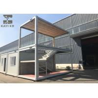 Buy cheap Optional Color Prefabricated Container House Customizable With Internal Staircase from wholesalers