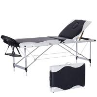 Buy cheap Fashion White&Black Massage Table Bed Facial SPA Beauty Salon Bed W/free Carry Case-Black from wholesalers