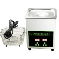 Buy cheap 50W 40khz Stainless Steel Mini Ultrasonic Cleaner Bath 2L With Digital Timer from wholesalers