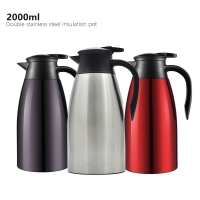 Buy cheap Stainless Steel Double Wall 2000ml Vacuum Insulated Teapot from wholesalers