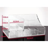 Buy cheap Transparent Acrylic Desk Organizer Stationery Storage Holder Counter Display Box from wholesalers