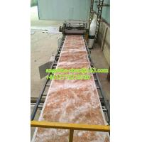 Buy cheap 1220mmx2440mm pvc stone powder imitation marble wall tile wall sheet production line product