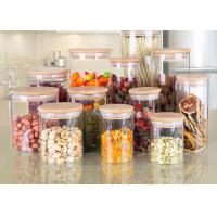 Buy cheap Serving Tea Spice Borosilicate Glass Jar , White Glass Food Storage Canister from wholesalers