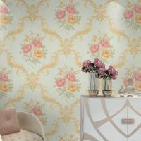 Buy cheap Hot sale good quality flower design waterproof mould proof PVC vinyl wall paper product