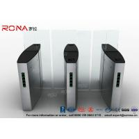 Buy cheap Building Access Control Turnstile Flap Barrier Automatic With Polishing Surface from wholesalers