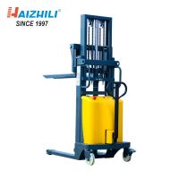 Buy cheap DC 12V / 1.6KW 2 Ton Manual Forklift , 3.5 Meter Semi Electric Double Mast Forklift from wholesalers