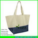 Buy cheap LUDA color block beach bag fashion women's summer straw beach shopper tote bag handbag from wholesalers