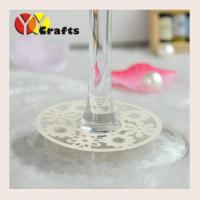 Buy cheap Flowers Wine Claims Decoration For Engagement Wine Glass Bottom from wholesalers
