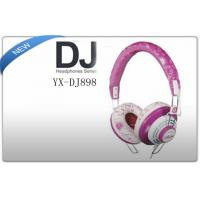 Buy cheap Stereo MP3 / iPhone iPod Over Head On Ear Stereo DJ Headphones Red / Silver product