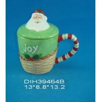 Buy cheap Fashionable Xmas Custom Ceramic Mugs With Lid Personalised Santa Clause Cover from wholesalers