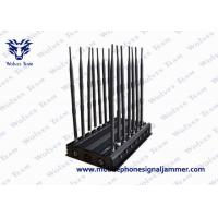 Buy cheap Full Bands GPS Signal Blocker , Remote Control Mobile phone Signal Jammer Adjustable 16 Antennas product
