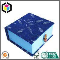 Buy cheap Square Shape Blue Color Gift Paper Box; Satin Close Luxury Paper Box from wholesalers