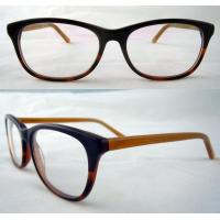 Buy cheap Black And Yellow Hand Made Acetate Optical Frames With Demo Lens product