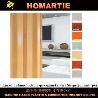 Buy cheap Waterproof Interior Folding Doors PVC 8mm Thickness With Rigid Hinge from wholesalers