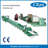 Buy cheap High Quality Color Steel Sandwich Panel Production Line From China, PU foam machine from wholesalers