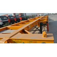 Buy cheap 40ft Container Skeleton Semi Trailer Flatbed Tractor Trailer 40000kg Loading Capacity from wholesalers