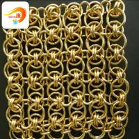 Buy cheap golden color low carbon steel ring mesh decorative mesh with colorful ring mesh from wholesalers