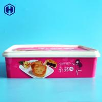 Buy cheap Small IML Box Moon Biscuits Cheese Cake Plastic Container Anti - Scratch from wholesalers