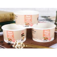 Paper Branded Ice Cream Cups With Lids Custom Logo Printed Leak Proof