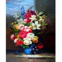 Buy cheap 100% Handmade Realistic  Flower  Oil Painting on Canvas from wholesalers