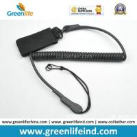Buy cheap Elastic Military Tactical Pistol Coil Lanyard Strong Handy Tool Tether from wholesalers