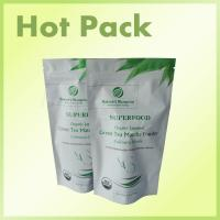 Buy cheap Zip Lock Powder Stand Up Packaging Pouch Bags For Organic Chinese Green Tea Matcha from wholesalers