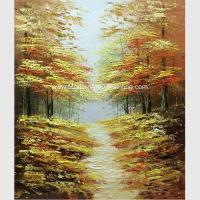 Buy cheap Abstract  Palette Knife Oil Painting On Canvas / Forest Stretched Oil Paintings from wholesalers