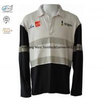 Buy cheap Knit Cotton Two Tone Fr Flame Retardant Polo Shirts Long Sleeve With Reflector from wholesalers