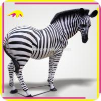 Buy cheap KANO5228 Amusement Park Artificial Life-Size Zebra Animal Statues from wholesalers