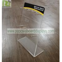 Buy cheap Counter Lighter POS Clear Acrylic Brochure Holder Durable With Metal Hooks from wholesalers