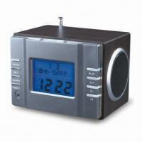 Buy cheap Wooden Speaker with FM Radio, Calendar and Alarm, Measures 85 x 100 x 130mm from wholesalers