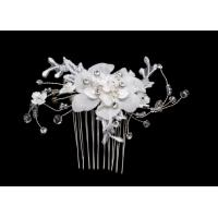 Buy cheap Crystal Silk Flower Jewelry Crystal Bridal Jewelry Flower shape Jewelry supplier HF0098 from wholesalers
