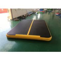 Buy cheap 0.9mm DWF Giant Inflatable Air Track / Black Inflatable Gymnastics Mats 100kg from wholesalers