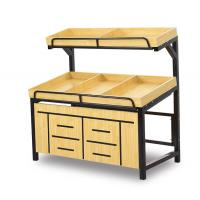Buy cheap Yellow Color Fruit And Vegetables Display Units Racks For Grocery Shop from wholesalers