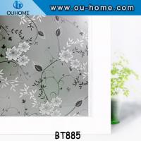 China BT885 Colored window tint security film stained glass vinyl window film on sale