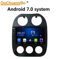 Buy cheap Ouchuangbo car radio gps navi android 7.0 system for Jeep Compass with Bluetooth WIFI steering wheel control 4*45 from wholesalers