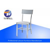 Buy cheap Modern Cafe Sturdy Chair In Brushed Aluminum / Replica Emeco Navy Chair from wholesalers