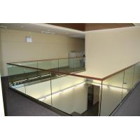 Buy cheap Modern design aluminum u base channel glass railing for stairwell/ decking use product