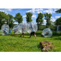 Buy cheap Comercial 1.0M 1.8M TPU Human Hamster Bumper Ball Soccer Football , Loopy Zorb Ball from wholesalers