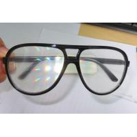 Buy cheap Clear Lens Plastic Diffraction Glasses With Black Frame For Travel Site product