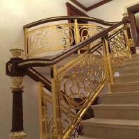 Buy cheap 2018 high-end new aluminum alloy shabili wooden handrail stair railing from wholesalers