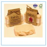 Buy cheap Recycled Paper Soap Packaging Box Custom Printed With Closure String product