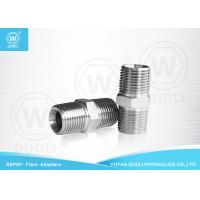 Buy cheap British Standard Male Thread BSPT Pipe Fittings , Metric Hydraulic Hose Fittings from wholesalers