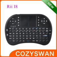 Buy cheap Portable Elegant Mini I8 2.4Ghz Wireless 92 Key Qwerty Keyboard with touchpad from wholesalers