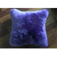 Buy cheap Pure Lambswool Decorative Lumbar Pillows , One Side Fur Sheepskin Car Seat Cushion  from wholesalers