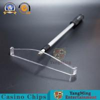 Buy cheap Roulette Chip Rake Poker Aluminum alloy retractable Baccarat Poker Gambling Products Iron Cards Chips Code Receiver from wholesalers