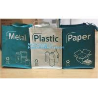 Buy cheap Factory custom recyclable folding laminated pp non woven bag shopping with heat transfer printing non woven fabric carry from wholesalers