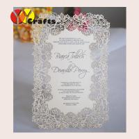 Buy cheap Handmade menu cards Laser cut Rose flower design wedding handmade menu cards Printing service from wholesalers