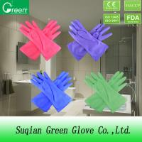 Buy cheap PVC Heavy Duty Rubber Gloves , Acid Resistant Gloves For Light Industry from wholesalers