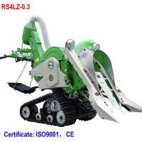 Buy cheap Mini walking rice combine harvester paddy harvester for rice and wheat from wholesalers